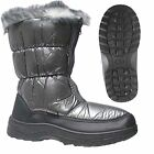 NEW WOMENS SNOW BOOTS WINTER ZIP UP MUCKER THERMAL LADIES WELLINGTONS FUR SKI