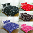 Keep Calm and Snooze Duvet Cover Quilt With Pillow Case Single,Double,Super King