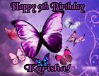 Butterflies Personalized Edible Print Premium Cake Topper Frosting Sheet 5 Sizes