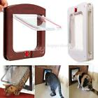 White Brown 4 Way Locking Lockable Pet Cat Small Dog Flap Door for Pet Care