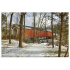 Poster Print Wall Art entitled Sheard's Mill covered bridge, eastern PA