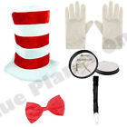 ADULTS CHILDRENS CAT IN THE HAT BOOK WEEK DR SEUSS FANCY DRESS COSTUME LOT