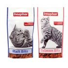 Beaphar Cat Kitten Malt or Salmon Bits Treats Snacks Hairball Control 75 Treats