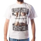 MEN'S PRINT T-SHIRT - MIRROR EDINBURGH - WHITE - SIZE OPTIONS!