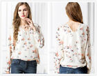 New Women's Flying Pigeon Chiffon Loose Long Sleeves T Shirt Tops Blouse