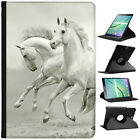 Superb Stunning Stallion White Horses Leather Case For Samsung Galaxy Tablet