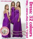 3yrs to UK26 sequin beads wedding party prom bridal bridesmaid flower girl dress