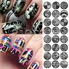 24 Style Nail Art Stamping Plate Tip Manicure Metal Resuable Round  Queen Serie