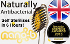 Nano-B Antibacterial Gold & Charcoal Toothbrush, Travel Case, Organic Toothpaste