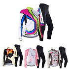 Women Autumn Long Sleeve Cycling jerseys Bicycle Wear Breathable Padded Pants