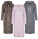 Marks & Spencer Womens Hooded Fleece Loungewear Nightdress M&S Long Hoodie Gown