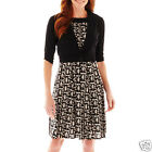 Perceptions Print Dress with Jacket Msrp $70.00 New Size M
