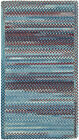 Capel Rugs Kill Devil Hill Wool Cross Sewn Braided Country Rug Blue #425