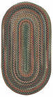 Capel Rugs Sherwood Forest Wool Country Lodge Area Braided Rug #225 Sage Green