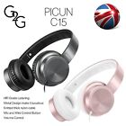 Sound Intone i65 Stereo Folding Portable Headsets Headphones with In-line Mic