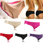 Women's Cotton Briefs Sexy Panties Underpants Invisible Seamless Underwear Knick