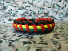 Rasta 550 Paracord Survival Bracelet / Dog Collar