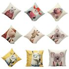 Vintage Animal Cotton Linen Pillow Case Throw Cushion Cover Home Sofa Decoration