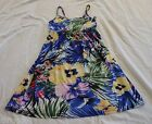 GIRLS KABOOSH summer DRESS NEW Blue with yellow and pink flowers NEW