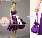 Dolly bag + Wedding bridal bridesmaid flower girl cocktail evening prom dress