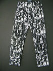 NEW SALOOS BLACK & WHITE PRINT TAPERED TROUSERS 2 COLS SIZES 12 14 16 18 20 22