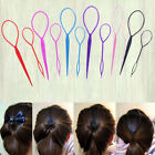 2pc Women Topsy Tail Hair Pin Tool Braid Ponytail Styling Maker Clip Accessories