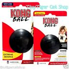 Kong Extreme Black Rubber Ball Small or Medium Large Dog Toy Made in USA