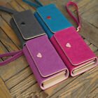 Fashion Women Wallet PU Leather Long Wallet New Popular Portable Purses