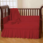 5 Piece Unisex Baby Crib Bedding set Fitted Pillowcase Comforter BedSkirt Bumper