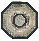 New Englands Green Mountain Country Octagon Braided Rug B...