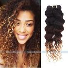 Brazilian Ombre Deep Wave Curly Virgin Hair Unprocessed Human Hair Extensions