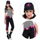 Ladies Sexy Referee Sports  Footie Football Soccer Whistle Fancy Dress Costume
