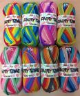 JAMES C BRETT PARTY TIME CHUNKY KNITTING/CROCHET WOOL/YARN - 100g - 8 COLOURS
