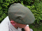 MENS WATERPROOF TWEED CAP GREEN ALL SIZES SMALL TO XXL