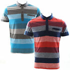 Duck and Cover Xenon Block Stripe Polo Shirt Bay Blue or Mars Red Small Medium
