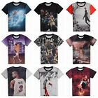 Basketball Short-Sleeved T-shirt Half Sleeve Male Sports Clothes Loose Big Size