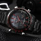Naviforce Stainless Steel Luxury Sport Analog Quartz Men's Army Wrist Watch H7I7