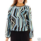 Bisou Bisou Long-Sleeve Ribbed Crop Top Size XS, S, M, L  New Msrp $48.00