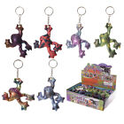 Collectable Soft Squishy Textile Sand Animal Keyring, Frill Neck Lizard OR Frog