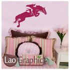HORSE RIDING JUMPING RIDER WALL ART STICKER DECAL kids vinyl stencil new HO13
