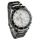 Fashion Luxury Alloy Stainless Steel Analog Quartz Mens Sport Wrist Watch