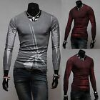 Unique Popular Graphic Men's Casual Tee Fashion Sexy Slim Fit Tops New T-Shirts