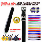 E Collar Replacement Strap and Long Range Antenna Bundle- Your Choice of colors!