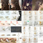 Fashion Women Gold Silver Geometry Triangle Hairpin Hair Clip Hair Accessories