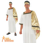 Adult Julius Caesar Costume Roman Fancy Dress Emperor Toga Outfit New