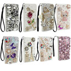 RHINESTONE BLING DIAMOND LUXURY DECO FOR SAMSUNG S5 S6 S7 S8 WALLET CASE LCRWS