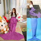 Kids/Adult Crocheted Mermaid Tail Kintting Body Warmer Blanket Sleeping Blanket