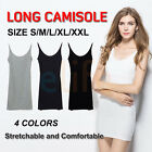 Basic Spaghetti Strap Cotton Camisole Tunic Long Basic Plain Tank Top XL 2XL 3X