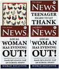 Ulster Weavers 100% Linen Tea Towel Man Woman Teenager Rooster Dishes