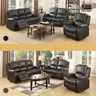 3 Set Sofa Loveseat Chaise Couch Recliner Leather Living Room Furniture 2 Colors
